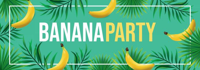Banana Party Aesthetic Tumblr Header Design Tumblr-banner template