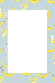 Banana Party Prop Frame