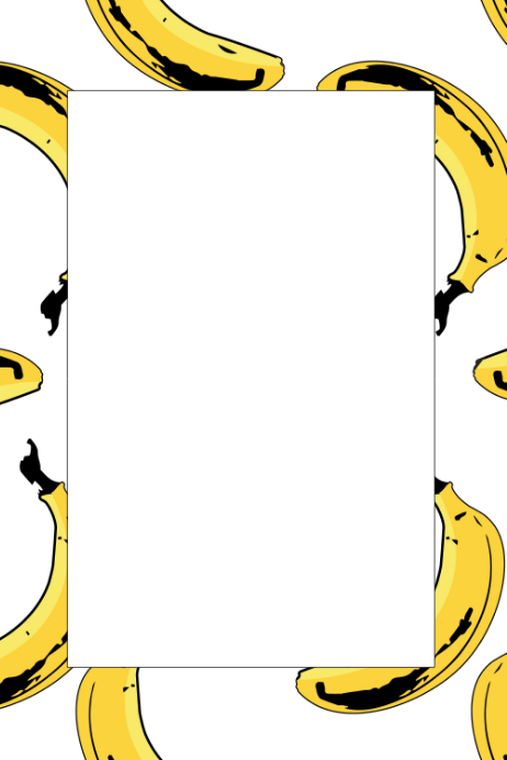 Banana Party Prop Frame Template | PosterMyWall