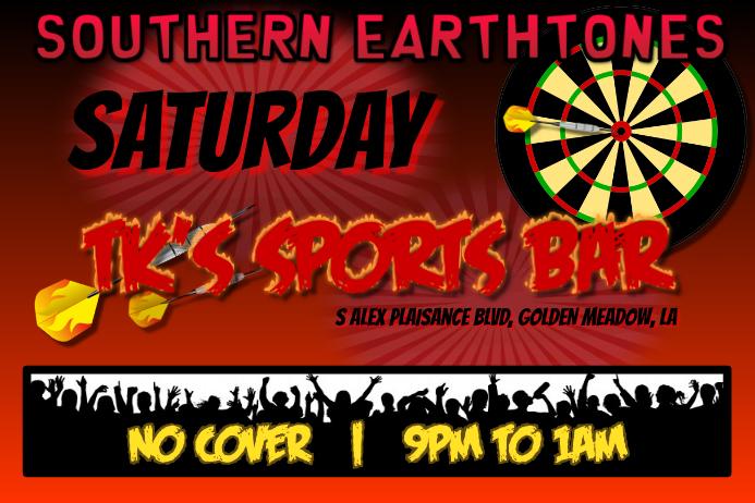 Band/Bar Dart Sports Template โปสเตอร์