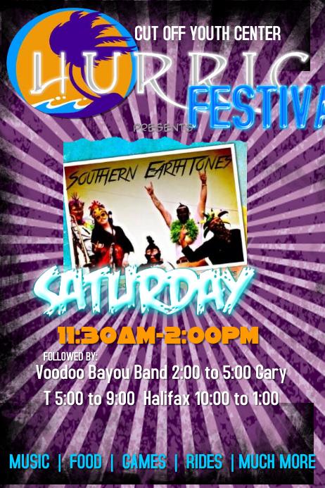 Band Bar Festival Community Event Flyer Poster
