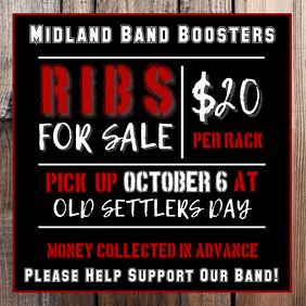 Band Boosters Square Flyer