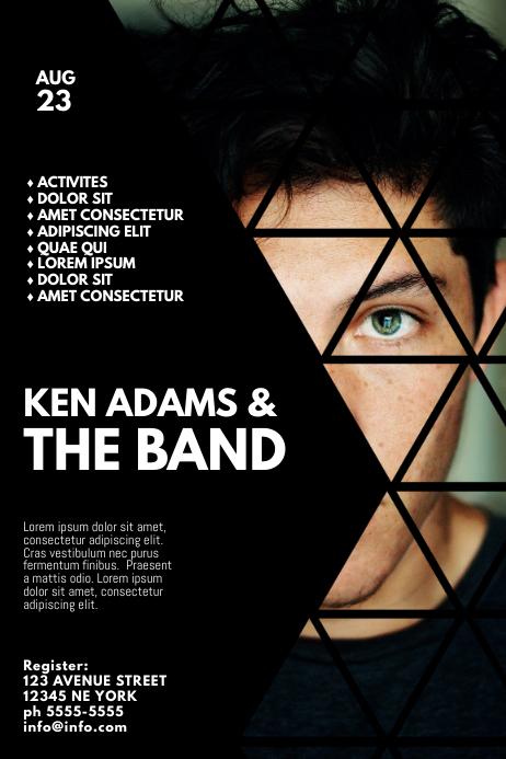 Band Concert Event Flyer Template โปสเตอร์