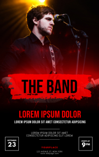 Band Concert Flyer Template Sampul Buku