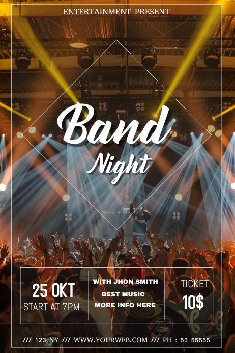 Band event flyer template