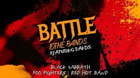Band Event Promo Video Template Tampilan Digital (16:9)