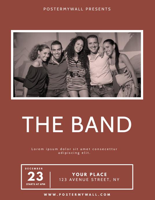 band Flyer Design Template