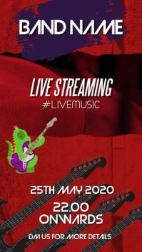 Band live stream Instagram Story template