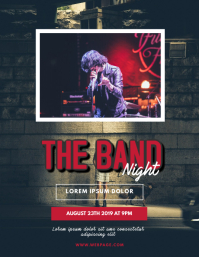 Band Music Party flyer template