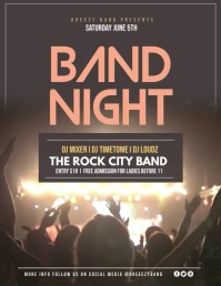 Band night Flyer (US Letter) template