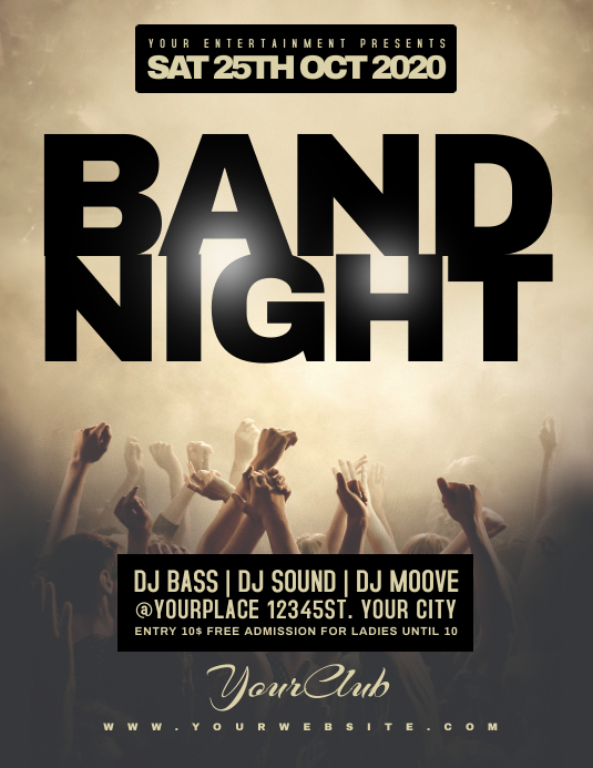 BAND NIGHT Fllyer Template Flyer (Letter pang-US)
