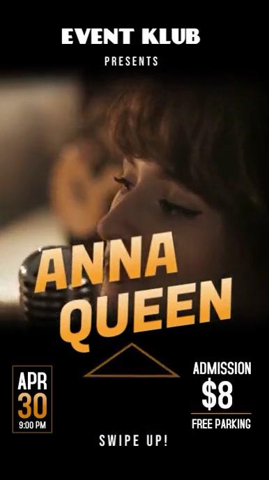 Band singer concert event instagram story ad Instagram-verhaal template