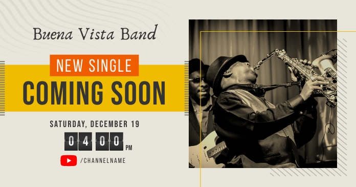 Band Single Coming Soon Facebook Post Image template