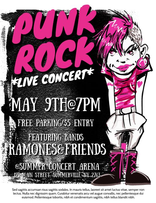 Bands Concert Flyer