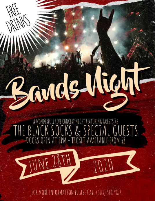 Bands Night Flyer