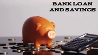 Bank loan and savings YouTube Thumbnail template