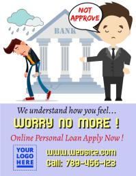 Bank loan information template Folheto (US Letter)