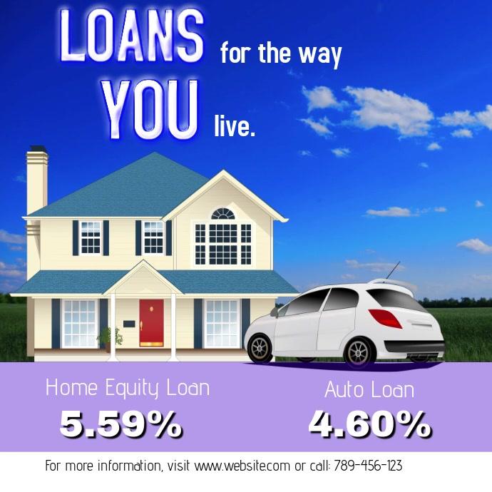 Bank loan template | PosterMyWall