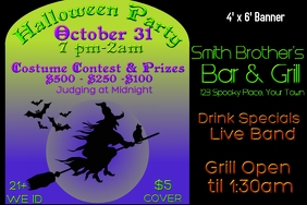 Banner -Bar Halloween Costume Contest
