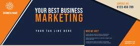 BANNER OF corporate business flyer template 横幅 2' × 6'