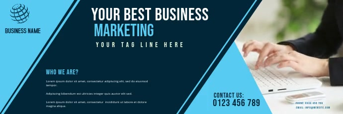 BANNER OF corporate business video template Bannier 2' × 6'