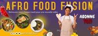 Bannière Facebook cuisine template