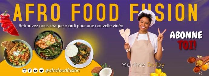 Bannière Facebook cuisine Facebook-omslagfoto template
