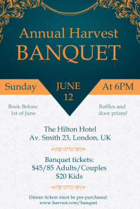 Banquet Atelier Invitation Poster Template