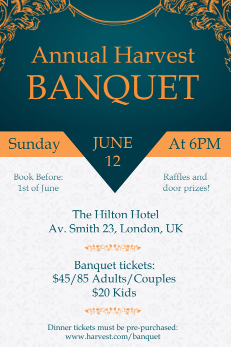 Copy Of Banquet Atelier Invitation Poster Template
