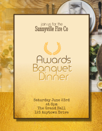 banquet awards dinner flyer template