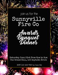 banquet awards dinner flyer template