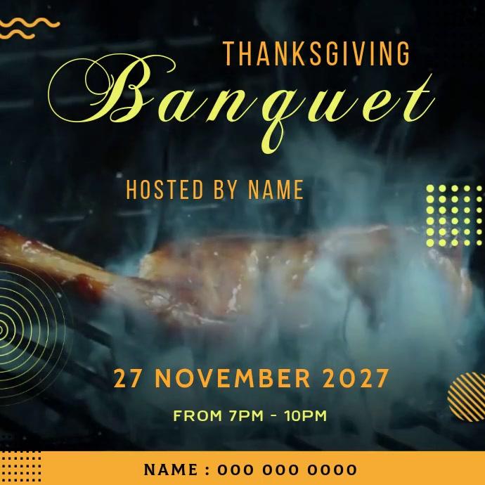 BANQUET EVENT ad social media TEMPLATE Logo