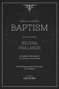 Baptism And Christening Invitation Template
