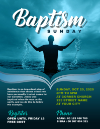 Baptism Church Flyer