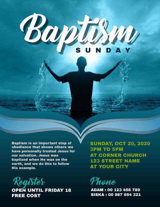 Baptism Church Flyer