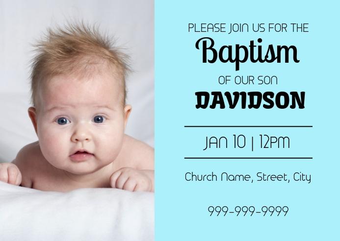 Baptism invitation card Briefkaart template