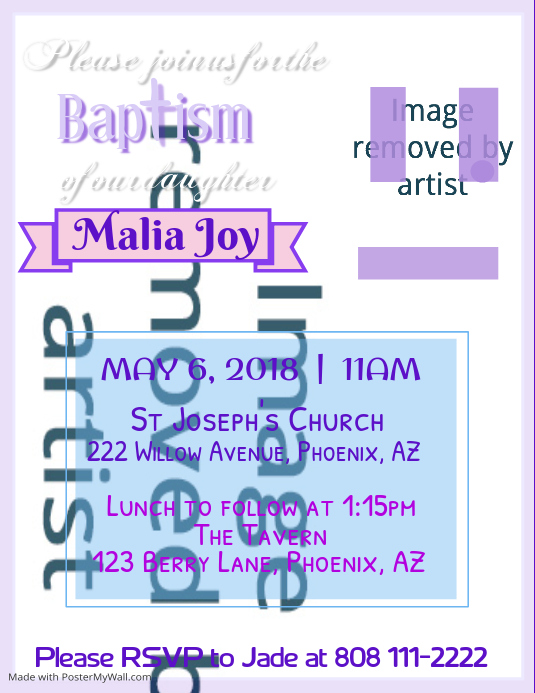 Baptism Invitation Flyer Template  Postermywall