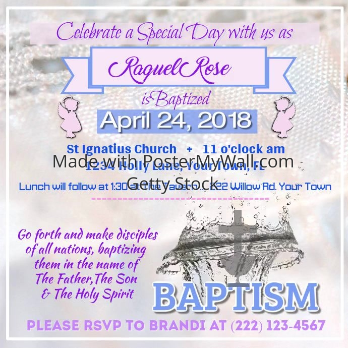 Baptism Invitation Video