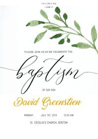 BAPTISM - INVITE