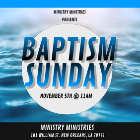 BAPTISM SUNDAY CHURCH FLYER