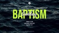 Baptism Sunday Digital Display template