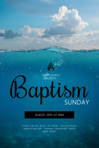 Baptism Sunday Flyer Template