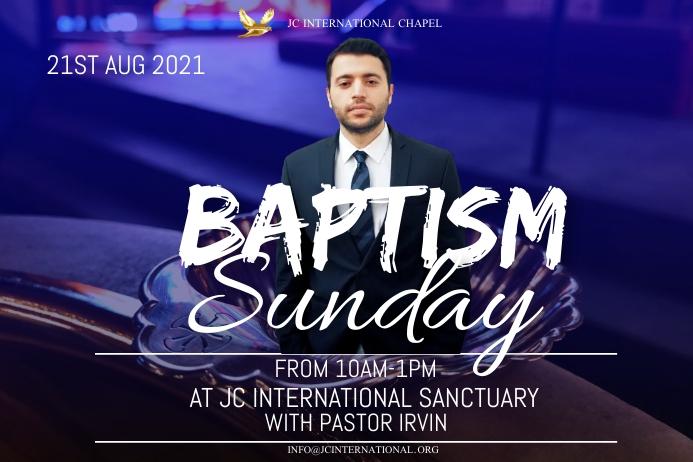 Baptism Sunday poster template