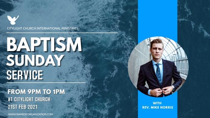 BAPTISM SUNDAY SUNDAY Digitalt display (16:9) template