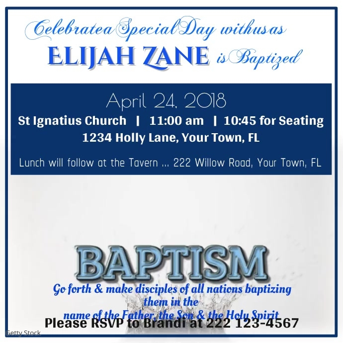 Baptismal Video
