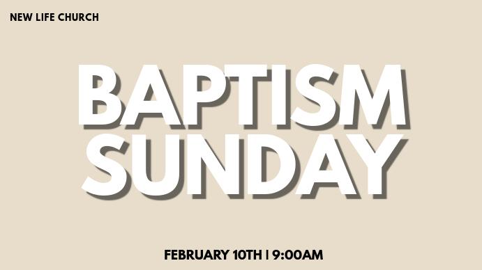 Baptisms Ekran reklamowy (16:9) template