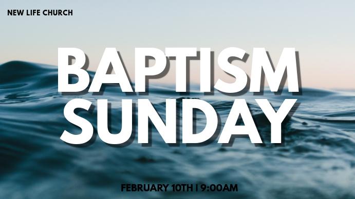Baptisms Digitalt display (16:9) template