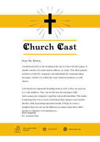 Baptist Church Letterhead Template Yellow