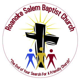 Baptist Church logo black cross with abstract people