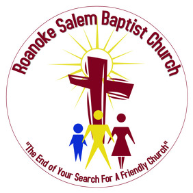 Baptist Church logo red cross with abstract people